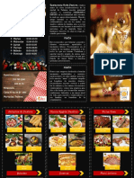folleto restaurante