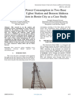 Modelling of Power Consumption in Two Base Stations, Using Ugbor Station and Benson Idahosa University Station in Benin City as a Case Study