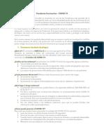 Fenómenos Sanitario-Ecologíco - Pandemia Coronavirus