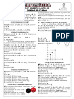 Apostila de Função do 1º grau (6 páginas, 27 questões, 9º Ano)