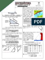 Apostila de Trigonometria (6 páginas, 27 questões)