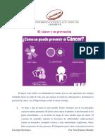 El cáncer y su prevención