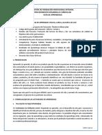GUIA DE APRENDIZAJE  #1 PREPARACION DE CAFE