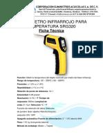 FICHA TECNICA TERMÓMETRO INFRARROJO SRG320