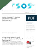 Activer windows 7 résoudre problèmes d'activation définitivement - My Sos Tech