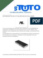 MesTuto_ NOTEBOOK PB HEV ST106 REFUSE DE S'ALLUMER