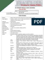 DATUM Encuesta Presidencial Enero 2011