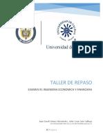 Taller Repaso Examen # 1 Ingeniería Económica y Financiera