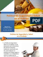 Politica de seguridad y salud en el trabajo