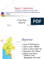 Country Report Myanmar