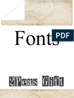 Claire's Font Gallery