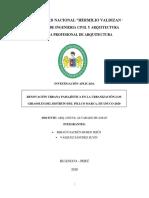 RENOVACIÓN URBANA PAISAJÍSTICA EN LA URBANIZACIÓN LOS GIRASOLES