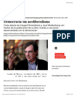 Democracia sin neoliberalismo – Horizontal