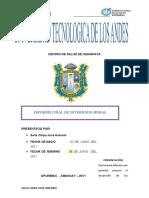 INFORME CENTRO DE SALUD DE HUANIPACA