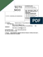 Informe Etapa N°2 Proyecto de mejoramiento urbano Espejo de Agua, La Serena, Region de Coquimbo