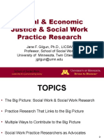 Social & Economic Justice & Social Work Practice Research