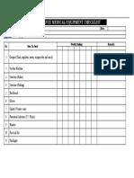 Ambulance Medical Equipment Checklist