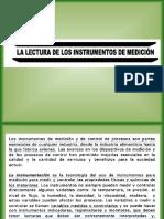 La lectura de los instrumentos de Medición