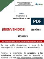 SESION 5. METACOGNICION, COEVALUACI+ôN, AUTOEVALUACI+ôN
