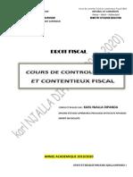 cours de contrôle fiscal et contentieux fiscal