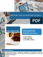 WRITING THE SUPPORTING DETAILS