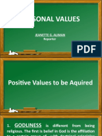 CHAPTER 3 PERSONAL VALUES