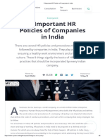 8 Important HR Policies of Companies in India.pdf