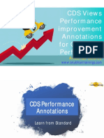 Cds view performance