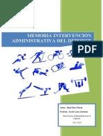 Memoria Intervención Administrativa - Jorge Díaz Morón