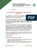 LOS CONFLICTOS TIPOS, CAUSAS Y ALTERNATIVAS DE SOLUCIÓN