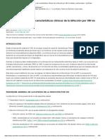 Historia Natural y Clínica de la infección por VIH - UpToDate