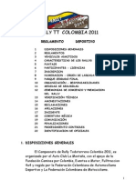 Rally TT Colombia Reglamento Deportivo (provisional)