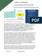January 2011 SEAsia RAN Newsletter