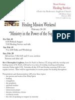 Healing Mission Weekend 2.18.11