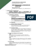 ESPECIFICACIONES TECNICAS 400 GALONES