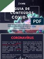 Guia de conteúdos CORONAVÍRUS