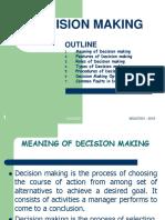 Module 5- DECISION MAKING
