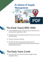Evoluation of Supply Chain Presentation