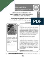 07 Artigo - Ciência e Crença em Deus - Ponderação a partir de Plantinga - Robert Brenner - Colloquium - 2020.pdf