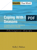 (Treatments That Work) Kelly J Rohan - Coping with the Seasons_ A Cognitive Behavioral Approach to Seasonal Affective Disorder, Therapist Guide-Oxford University Press, USA (2008)