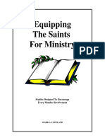 equipping the saints for ministry