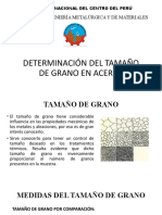 DETERMINACIÓN DE TAMAÑO DE GRANO - SEMANA 8