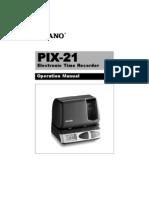 Checador PIX-21 English