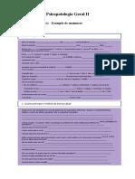 Aula 5 - PGII -Complemento - Modelo de anamnese para verificar psicopatologia.docx