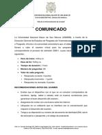 Comunicado - VRIP21052016 - Aspectos a considerar para el Examen Virtual de Maestrias - VF