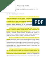 Aula 11 - PGII - A sensopercepção e suas alterações