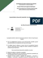 Expo 1 Consideraciones sobre el Desarrollo Sostenible