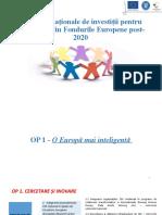 Propuneri priorități naționale de investiții în perioada 2021-2027
