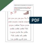 LECTURA CONSONANTE P