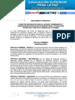 Reglamento Operativo Fondo de víctimas Convocatoria 2020-2 - ICETEX